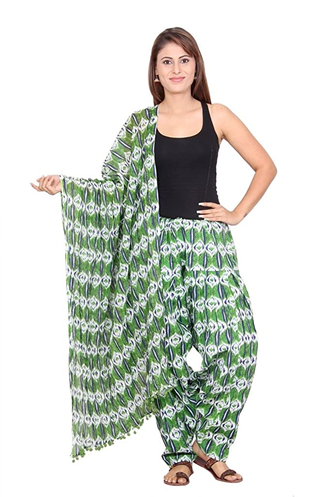 736492c52e0 Rama Women's Cotton Printed Patiala and Dupatta Set (Green, Free Size):  Amazon.in: Clothing & Accessories