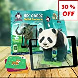 5D+ Cardz - Wild Animals - Augmented Reality and Virtual Reality based Educational Games for Kids | Flash Cards | Perfect Birthday Return Gift for Children | Pre School Learning Toys for Boys & Girls