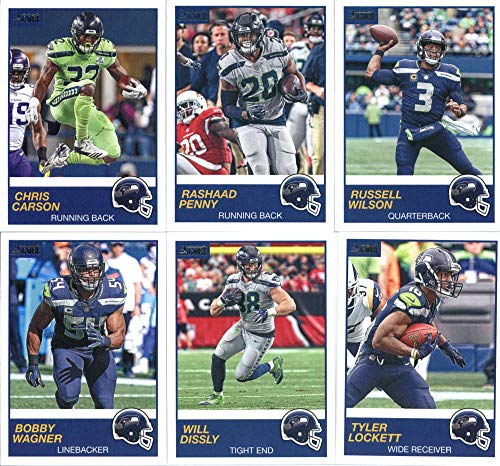 (2019 Panini Score Football Veteran Seattle Seahawks Team Set of 10 Cards: Russell Wilson(#314), Rashaad Penny(#315), Chris Carson(#316), Tyler Lockett(#317), Will Dissly(#318), Bobby Wagner(#319), Frank Clark(#320), Shaquill Griffin(#321), David Moore(#322), Nick Vannett(#323))