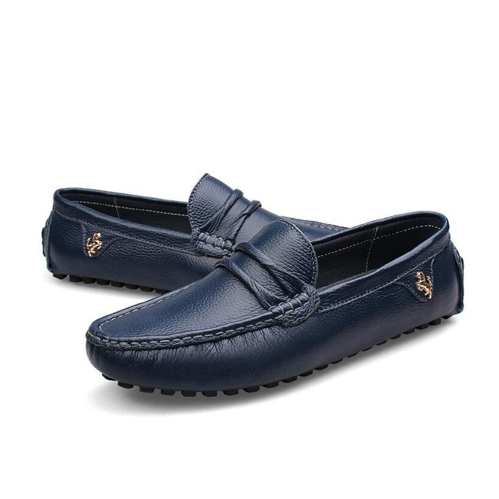 Hy Herren Formelle Schuhe, 2019 Leder Müßiggänger & Slip-Ons Slip-Ons Slip-Ons Faule Schuhe, Comfort Driving Schuhe Büro & Karriere Party & Abend (Farbe   Blau, Größe   39) 2f7b55
