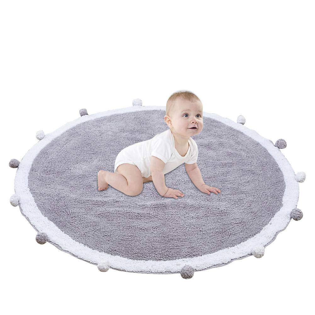 Runder Teppich Kinderzimmer Teppich Baby Spielmatte Krabbeldecke Krabbeldecke Krabbeldecke Teppich Kinderzimmer Dekoration B07H34GNJG Teppiche & Lufer 9c86a1