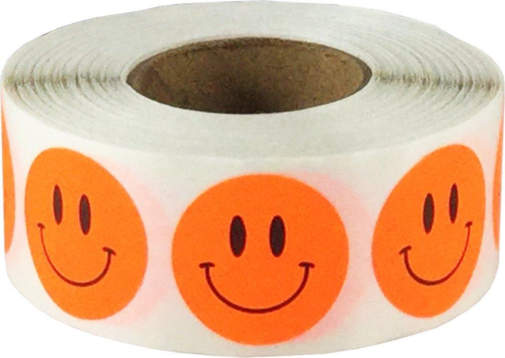 Adesivo a forma di cerchio con viso felice, 3/4, rotondo, 500 etichette su un rotolo Yellow Sparkle Holographic 3/4 InStockLabels.com