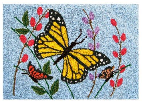 MCG Textiles Butterflies Punch Needle