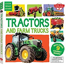 Tractors and Farm Trucks: Includes 9 Chunky Books