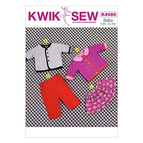 KWIK-SEW PATTERNS K4080 Baby Jacket, Skirt and Pants, All (Baby Skirt Pattern)
