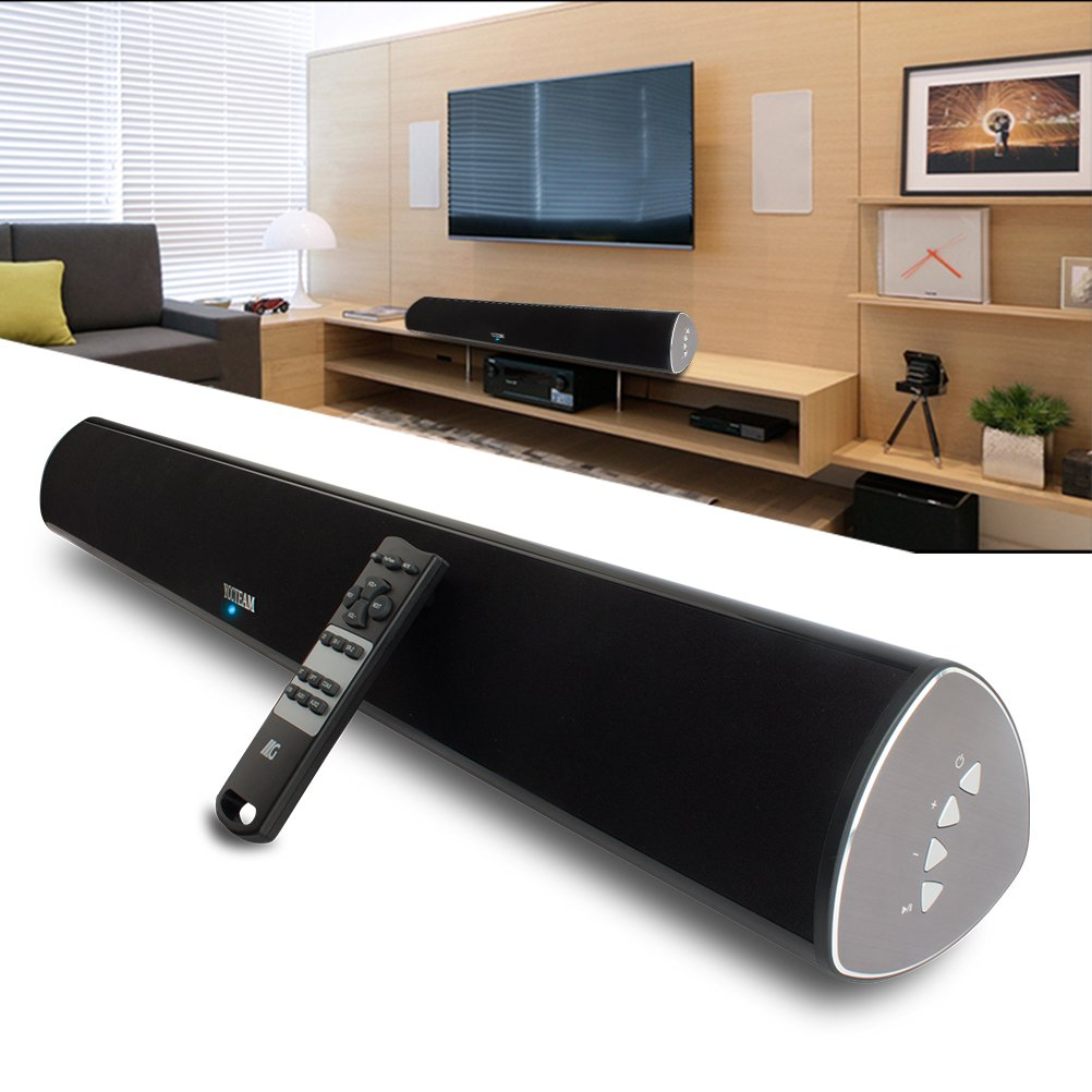 TV Soundbar, 34-Inch 2.0 Channel Sound Bar TV Wireless Surround Sound Systems With Optical Coaxial Bluetooth 4.0 for TVs Phones Tablets PSP PCs by YCCTEAM by YCCTEAM