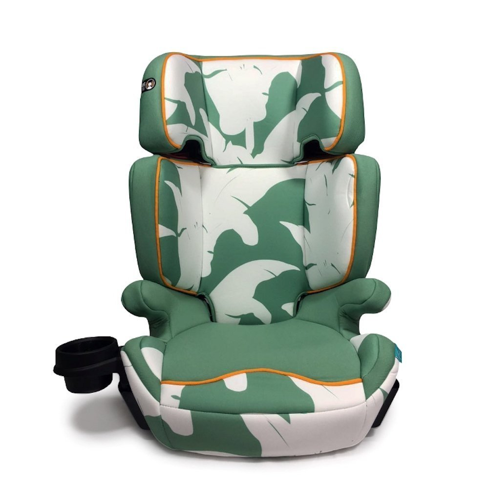 Aidia Explorer 2-in-1 Safety Booster Car Seat, Green/White LTD AD01/Madagascar