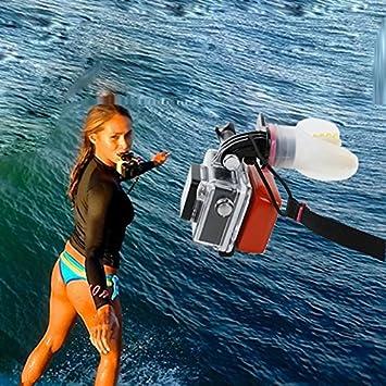 Adaptador de montaje de Gopro MU Accesorios Gopro Boca + flotador + 3M para GoPro héroe 4 3 3 + SJ4000 Cámara Fit Surf hormigas pequeñas cámaras ...