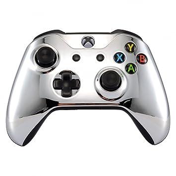 eXtremeRate Funda Delantera Carcasa Protectora de la Placa Frontal Cubierta Antideslizante para el Mando del Xbox One S y Xbox One X (Model 1708) ...