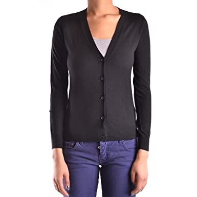 52ac639418212 BURBERRY Cardigan Black at Amazon Women's Clothing store: