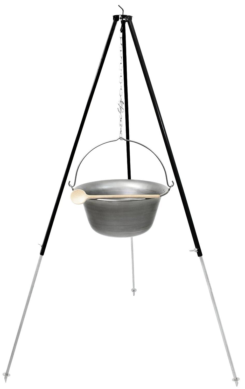 Set Gulaschkessel Gulaschtopf 15L aus Eisen mit Dreibein 1,80 m - Suppentopf Feuertopf