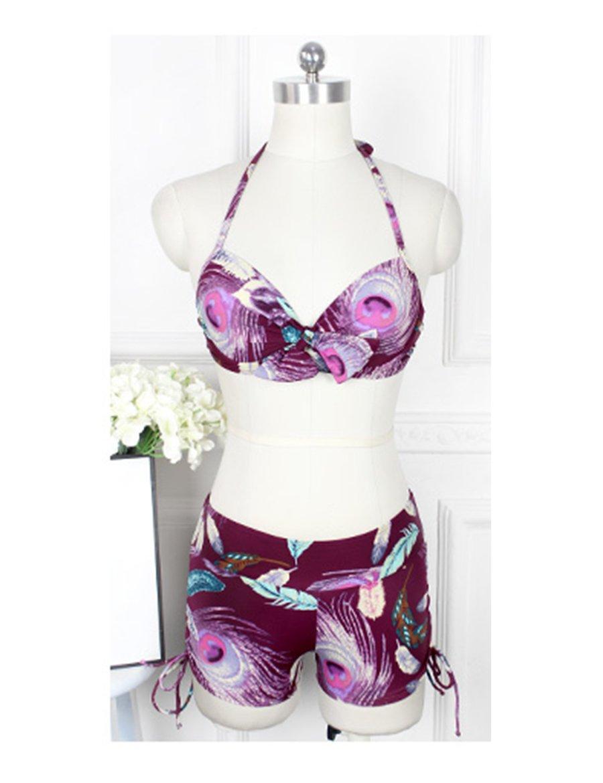 Große Größe Urlaub Split Badeanzug Frauen Kleine Brust Gehirne gesammelt Dreiteiliger Badeanzug Bikini Hot Spring Badeanzug