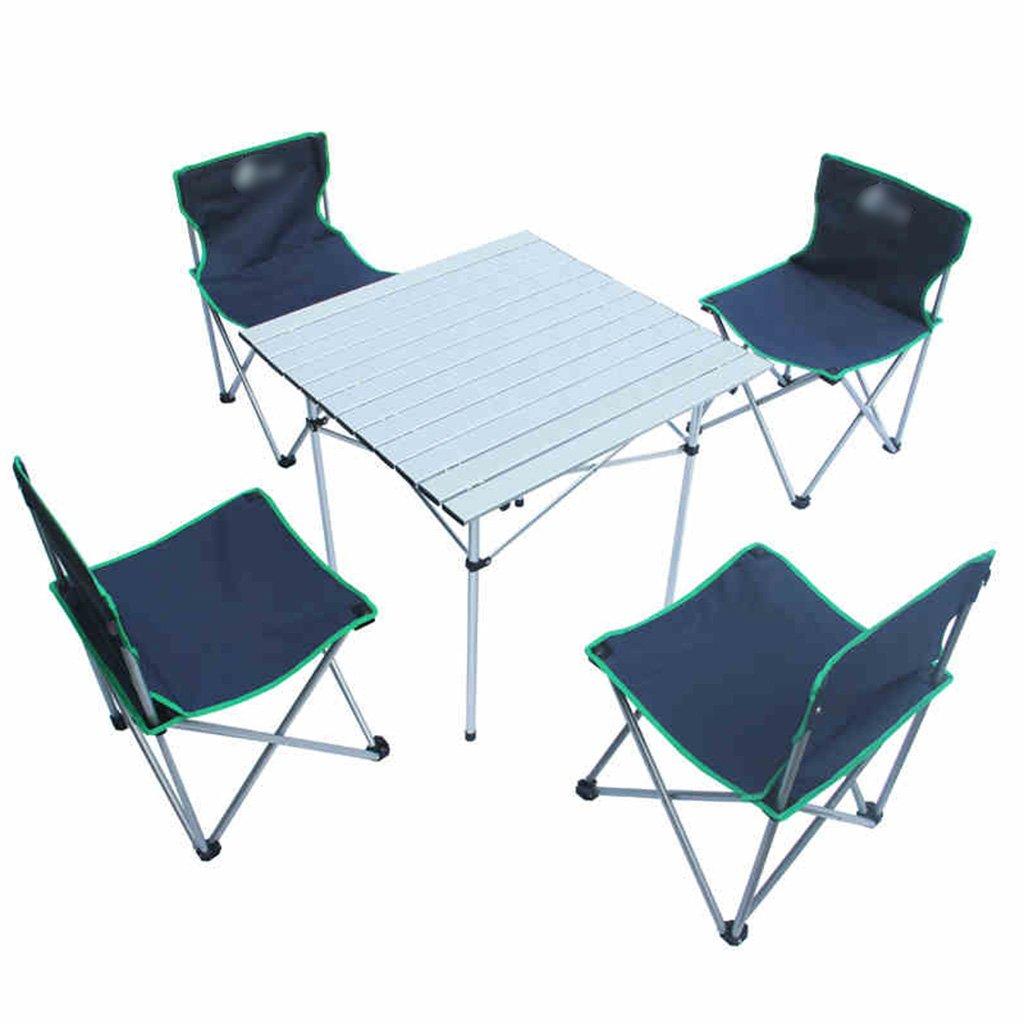 Anna Kletterstuhl Outdoor Falttische und Stühle 5 Sets von einfachen Falttische und Stühle Farbe optional (Farbe : Marine)