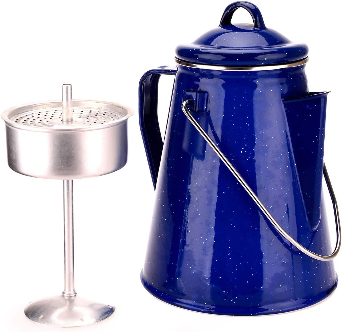 Oztrail - Cafetera Enamel Coffee Pot 2L para 8 Tazas de café ...