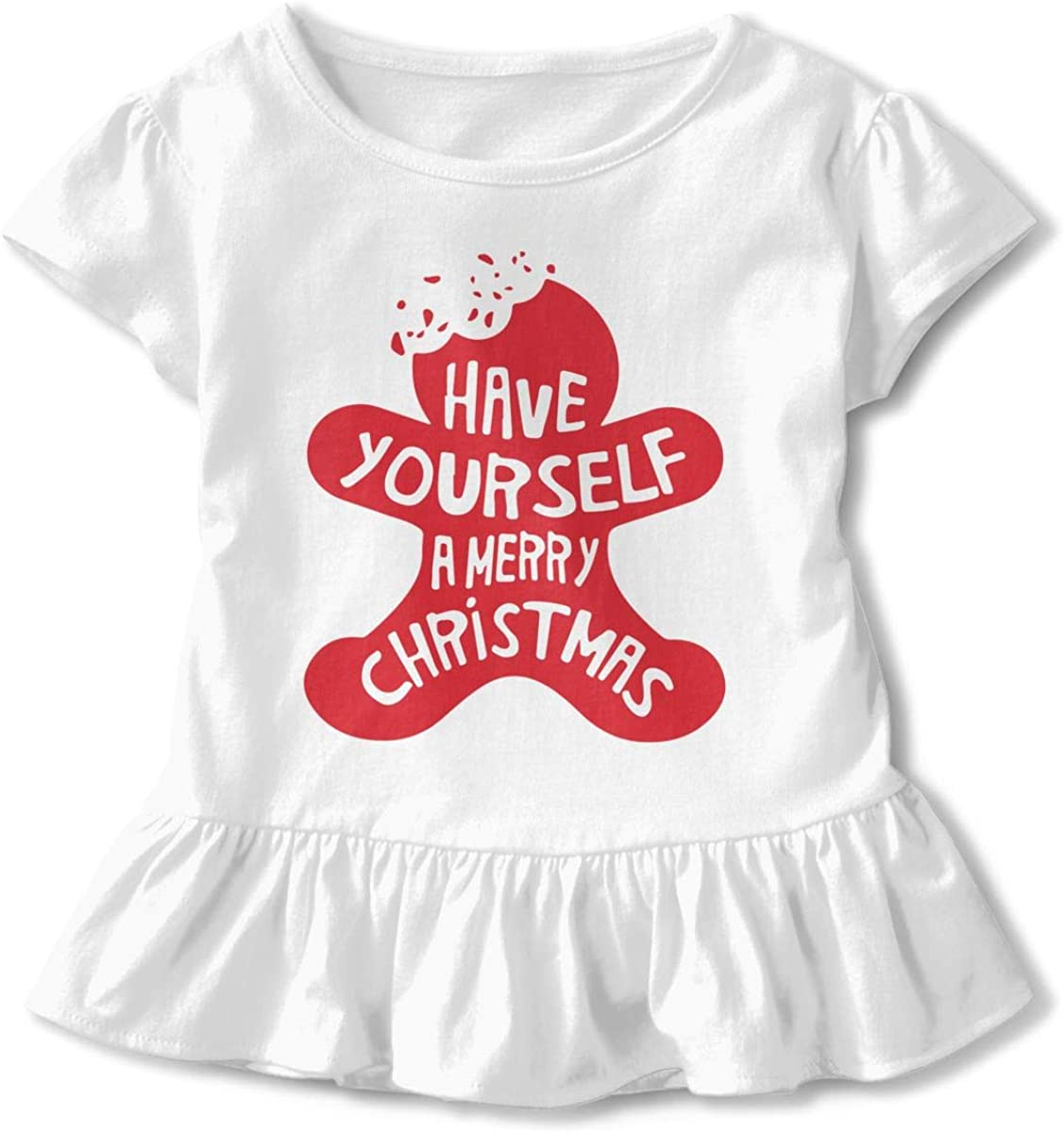 26NSHIRT Christmas Cookie Little Girls Short Sleeve Cotton Top
