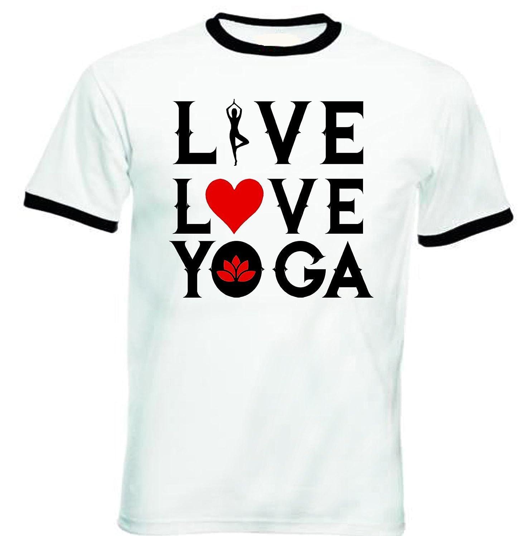 teesquare1st Yoga, Live, Love, Yoga Tshirt de Hombre con ...