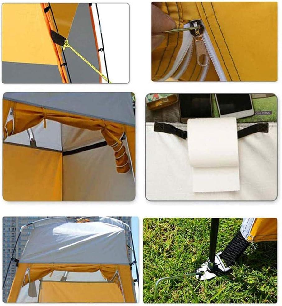 Gnohnay Pop Up Toilettenzelt Umkleidezelt, Camping Duschzelt Mobile Outdoor Privatsphre WC Zelt Lagerzelt, für Camping und Strand, 120 * 120 * 180CM,Grün Orange