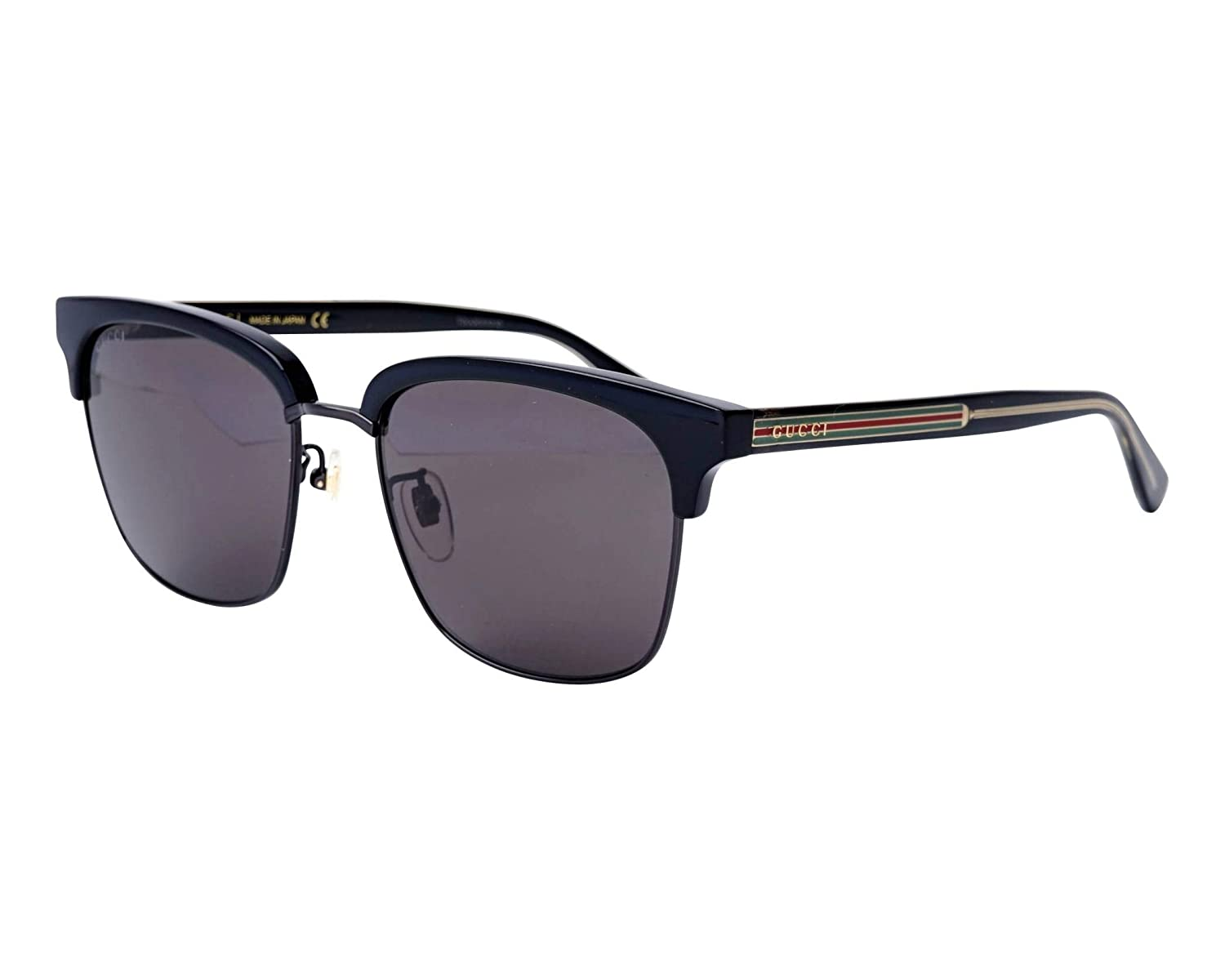 90b406720b Amazon.com  Gucci GG0382S 001 Black GG0382S Butterfly Sunglasses Lens  Category 2 Size 59mm  Gucci  Clothing