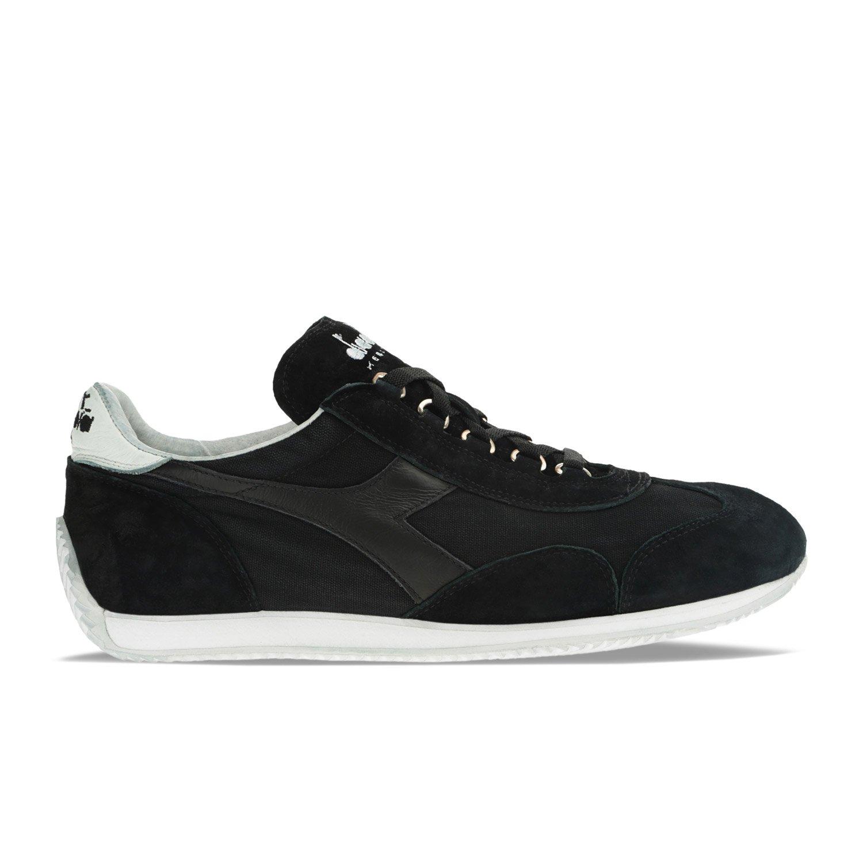 Diadora Heritage - Sneakers Equipe Stone Wash 12 para Hombre y Mujer EU 36.5 - US 4.5 - UK 4 (cm 22.5)|C0200 - Negro-blanco
