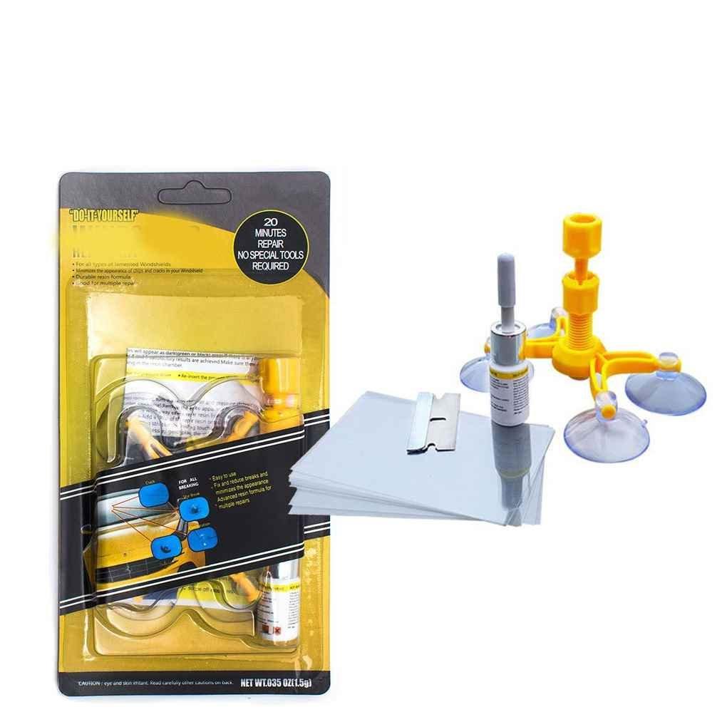 Kit riparatore parabrezza automatico Kit riparatore vetro Parabrezza lucidatura Set parabrezza Fix Tool Set Vetro parabrezza Riparazione Pratico