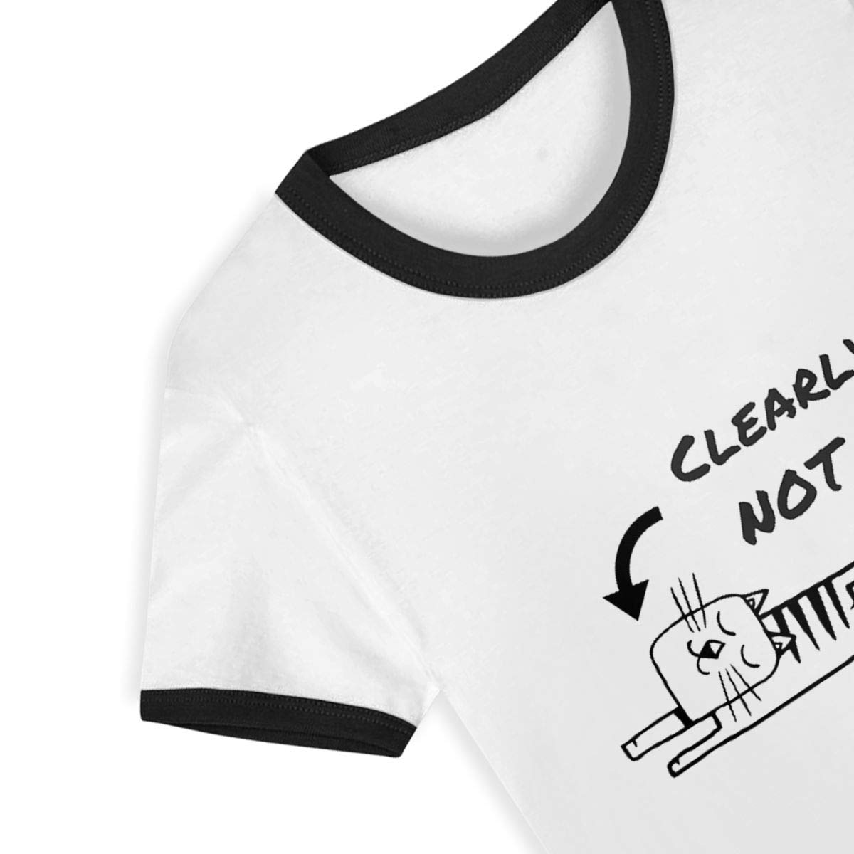 CY SHOP Clearly NOT Me Childrens Boys Girls Contrast Short Sleeve T-Shirt
