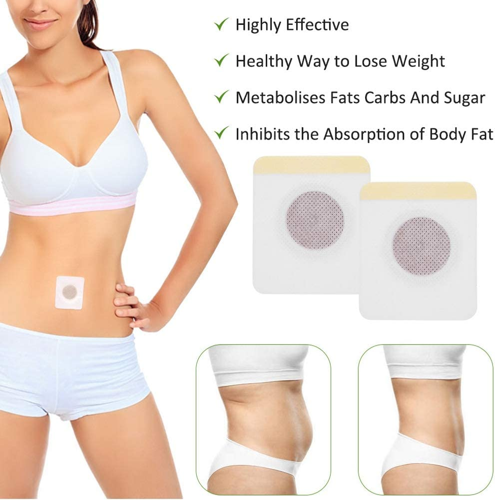 50pcs Slimming Pacth Navel Sticker Weight Loss Sticker Belly Patch Slimming Weight Loss Fat Firming Sticker Plaster for Beer Belly Buckets Waist