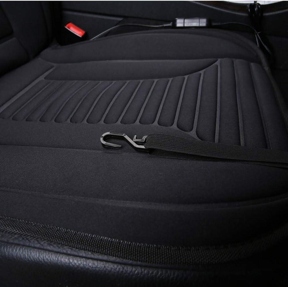 Wukalaka 1PCS 12V Car Heated Seat Cushion with Intelligent Temperature Controller Auto Heated Seat Pad Seat Cover Winter Seat Cushion Black Car Accessaries
