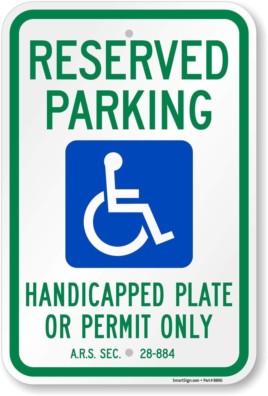 """Parking By Permit Only//Estacionamiento Con Permiso Solamente Sign 12/""""x18/"""" Alumin"""