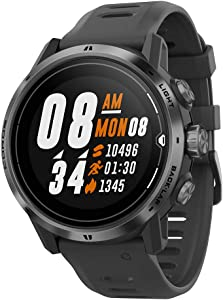 COROS APEX Pro Premium Multisport GPS Watch with Heart Rate Monitor, 40h Full GPS Battery, 24/7 Blood Oxygen Monitoring, Sapphire Glass, Barometer, ANT+ & BLE, Strava & Training Peaks (Black)