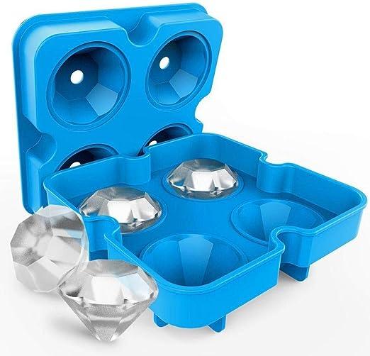 HMILYDYK - Molde de silicona para hacer cubitos de hielo con tapa ...