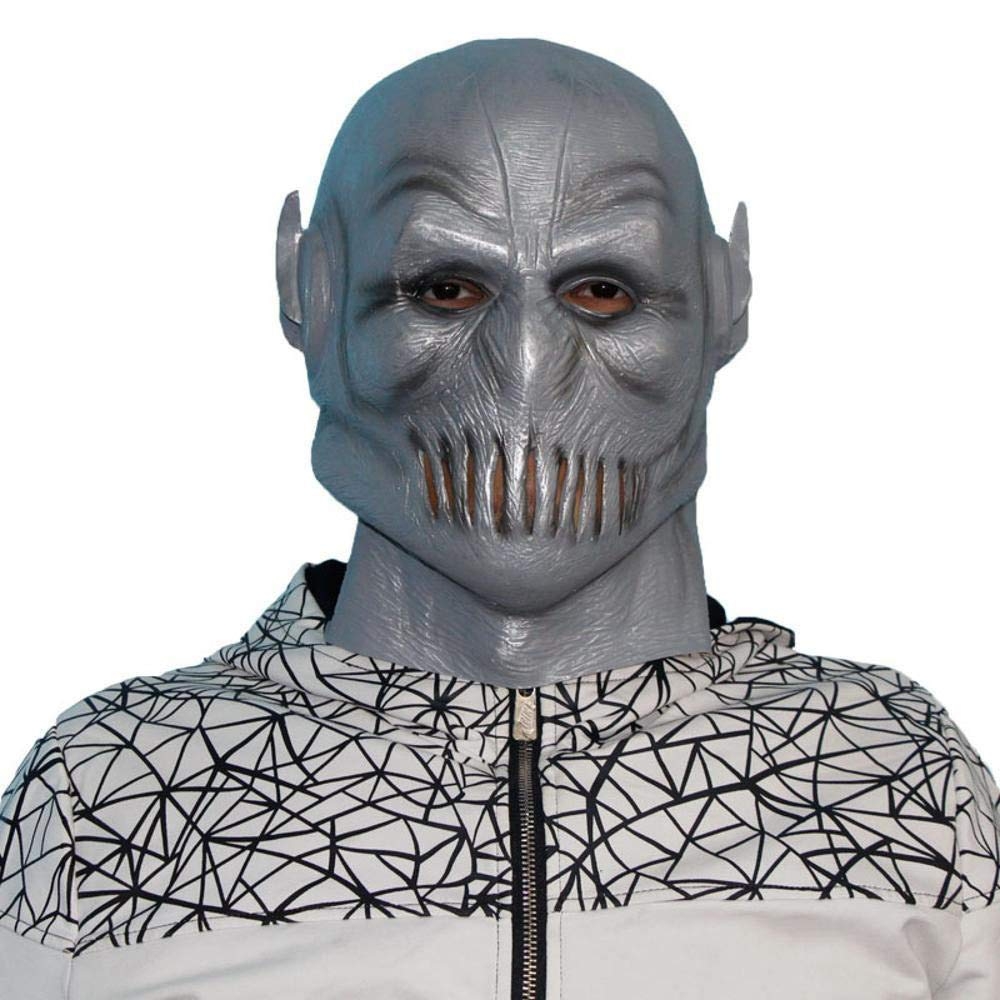 centro comercial de moda LEIU Halloween, Ghost Ghost Ghost Festival Horror Mask Latex Head Cover Video Flash Shield Mask Cos Adult Mask Shooting Props  Más asequible