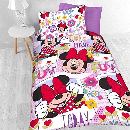 Kinder-Bettwäsche Minnie Maus Disney Minnie Mouse Bettwäsche Garnitur für Mädchen