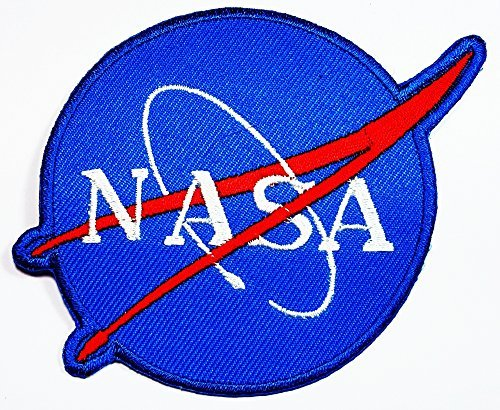 Nasa Space Program Vector Patch Iron on Patch Embroidered Iron on Hat Jacket Hoodie Backpack Ideal for Gift Gift / 9.5cm(w) X 7cm(h)