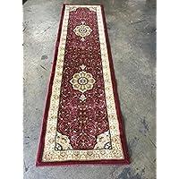 Traditional Persian Burgundy Runner 500,000 Point Design 404 (2 Feet X 7 Feet 3 inch )