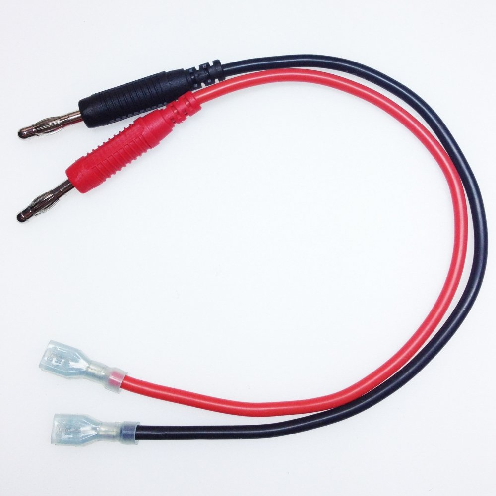 satkit tl22036Câble Banana 4mm à coenctor Athenas Faston 30cm
