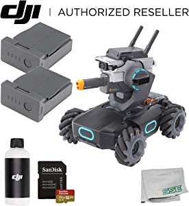 DJI RoboMaster S1 Intelligent Educational Robot STEM with Programmable Modules 2-Battery Bundle