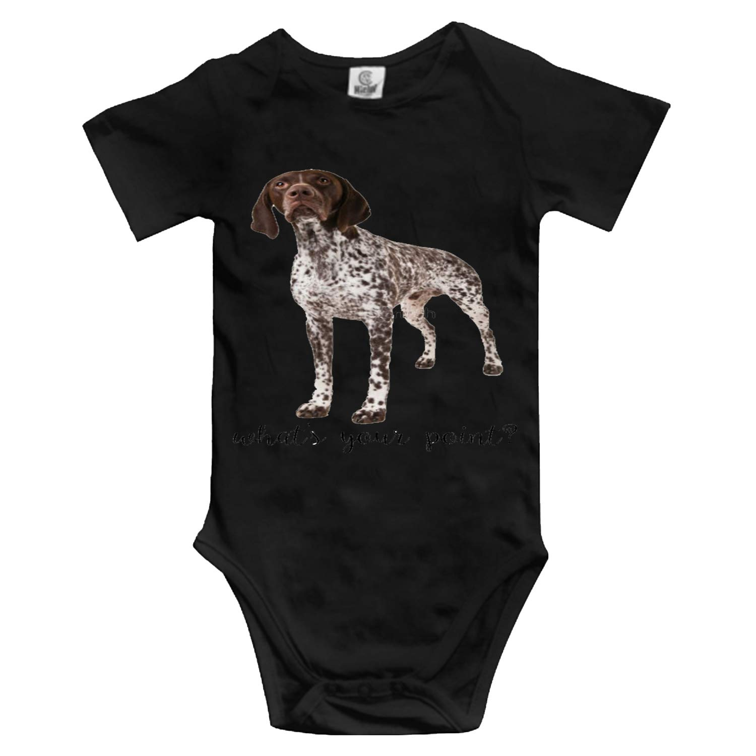 German Shorthaired Pointer Whats Your Point Infant Baby Boys Girls Clothing Shirts Short Sleeves Rompers Jumpsuit