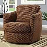 Cheap Swivel Upholstered Chair Brown