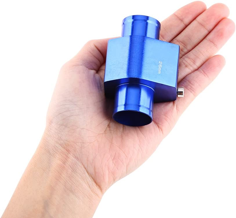 Blue 26mm 38mm Keenso Aluminum Water Temp Temperature Joint Pipe Sensor Gauge Radiator Hose Adapter Universal Water Temp Joint Pipe 40mm
