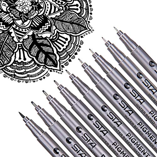 Dyvicl Black Micro-Pen Fineliner Ink Pens - Waterproof Archival Ink Micro Fine Point Drawing Pens for Sketching, Anime, Manga, Comic, Artist Illustration, Technical Drawing, Bullet Journaling