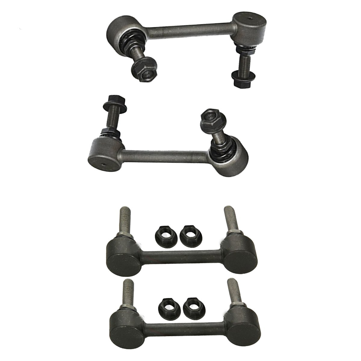 Front Sway Bar End Link Set & Rear Sway Bar Links 4pc Kit for 11-15 Dodge Durango - [2011 Jeep Grand Cherokee] - [2012-2015 Grand Cherokee 3.6/5.7L] Detroit Axle