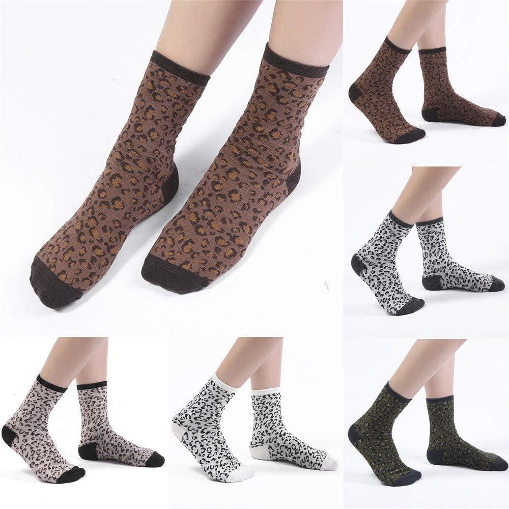 Briskorry warme socken damen Herbst Winter Pers/önlichkeit Weibliche Socken Baumwolle Leopard Drucken Neutrale Farbe Baumwollsocken anti rutsch socken