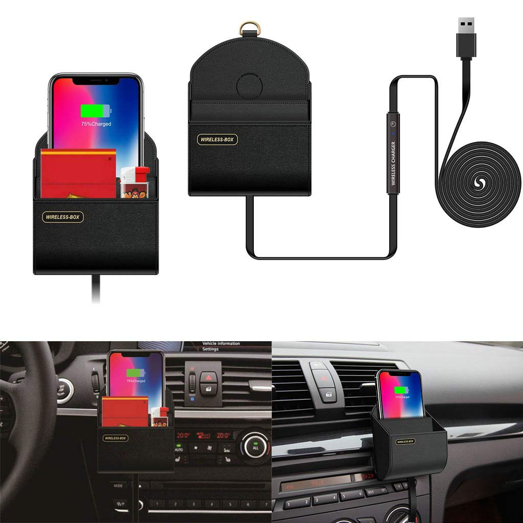 Pollyhb Wireless Charger Storage Box Car Charging Dock Station,Compatible for iPhone,Compatible Samsung by Pollyhb's Wireless Charger (Image #3)