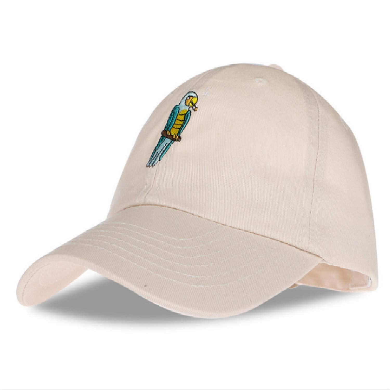 Fashion Cartoon Embroidery Bird dad hat for Women Adjustable Cotton Snapback hat Casual Summer Baseball Cap