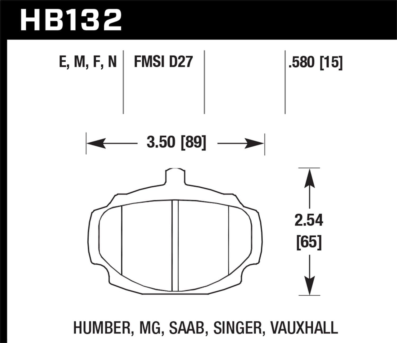 Hawk Performance HB546N.654 HP Plus Brake Pad