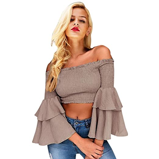 c082005c221ff Paymenow Off Shoulder Tops for Women Sexy