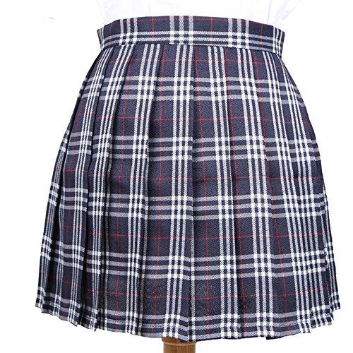 YoungG-3D Women Summer High Waist Casual Pleated Skirt