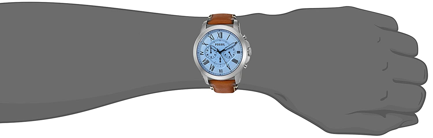 805b5964846a Amazon.com  Fossil Men s FS5184 Grant Chronograph Light Brown Leather Watch   Watches