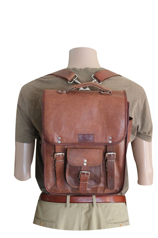 Men's Leather Backpack/office/ Brief/laptop /Messenger Bag. 3 Bags in One