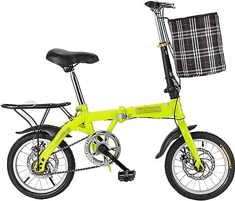 STRTG Bikes Bicicleta Plegable, Micro Bike+Adultos Bicicleta Plegable Urbana,Cambio de Velocidades con Piñón Libre para Exterior, Unisex Adulto14*16 * 20 Pulgadas: Amazon.es: Deportes y aire libre